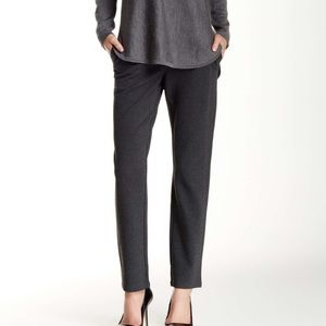 Eileen Fisher Slim Knit Ankle Pants Charcoal Grey